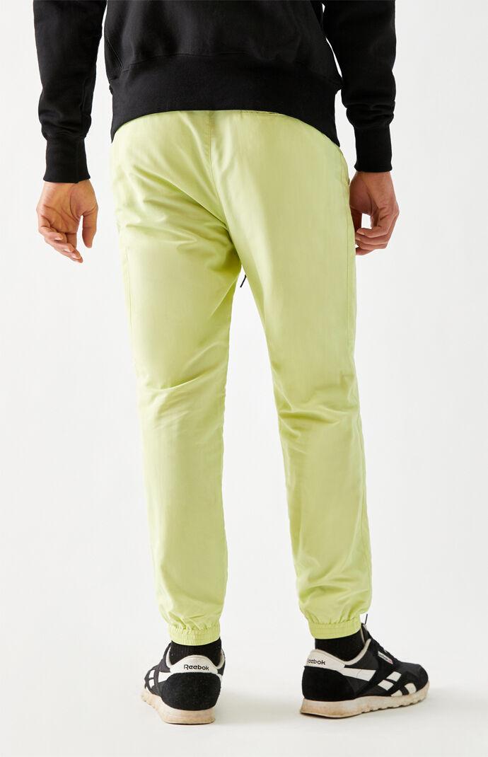 Lime Nylon Jogger Pants
