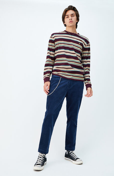 Blue Chain Corduroy Trouser Pants