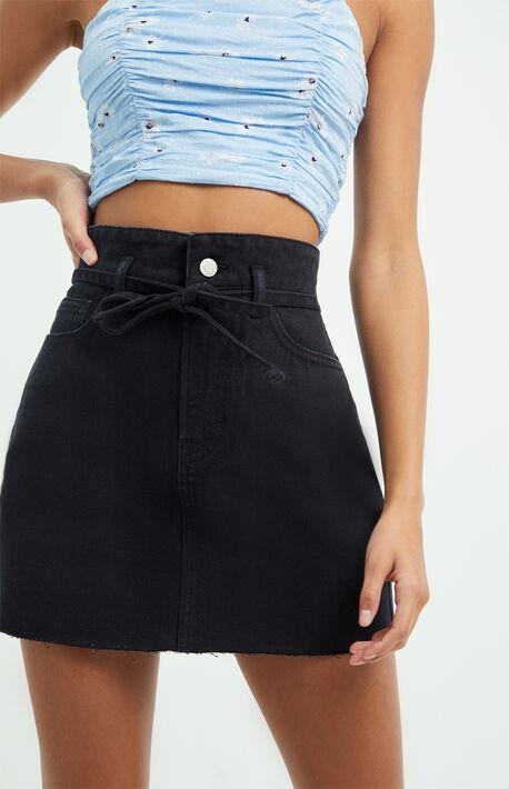 Atomic Black Self Tie Skirt