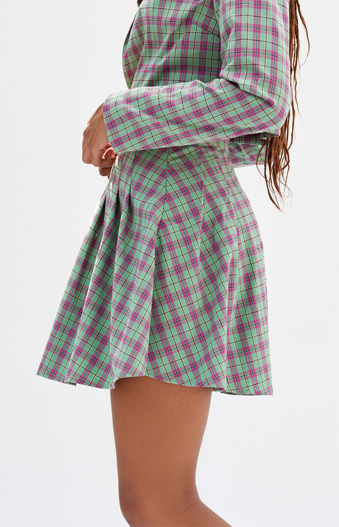 Checker Mini Skirt