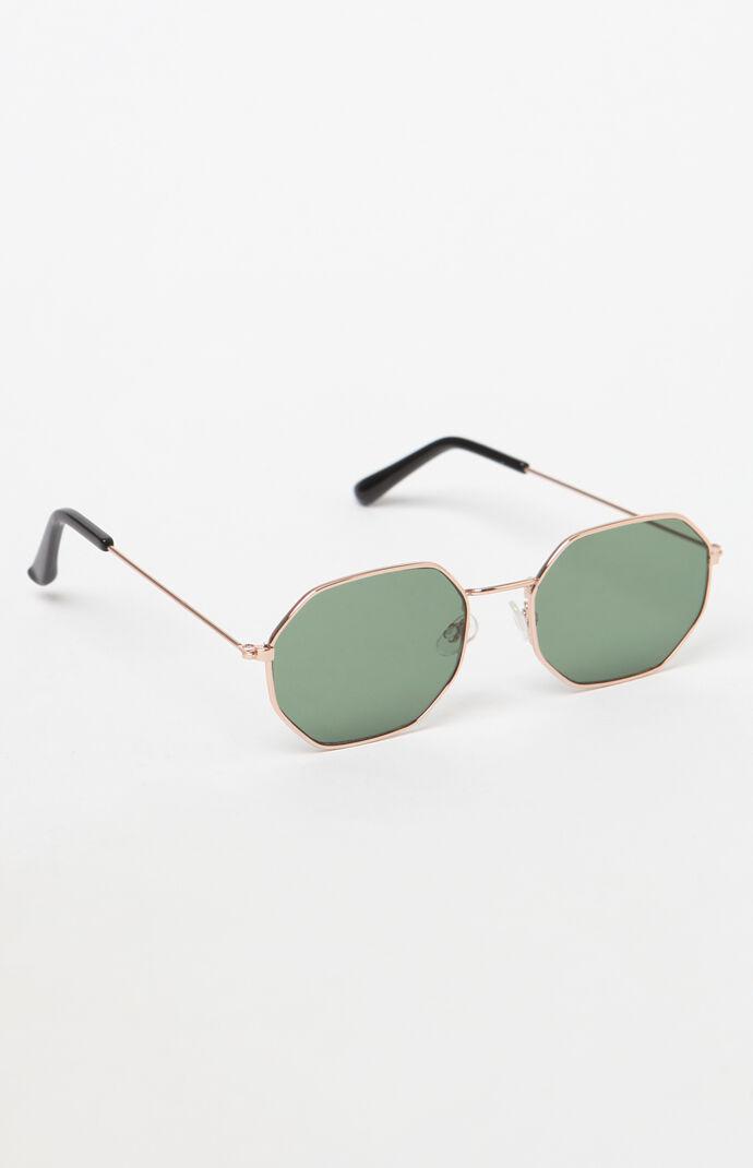 c090610b10490 PacSun Edgy Metal Round Gold Sunglasses