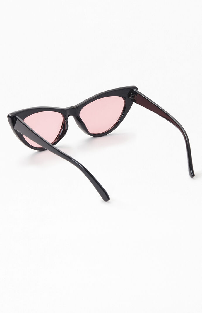 Black & Pink Cat Eye Sunglasses
