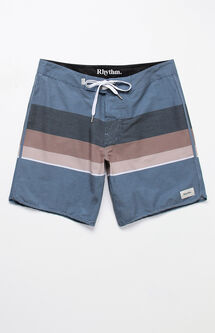 "Julian Striped 17"" Boardshorts"