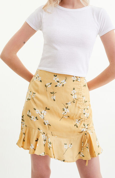 Maggie Ruched Mini Skirt