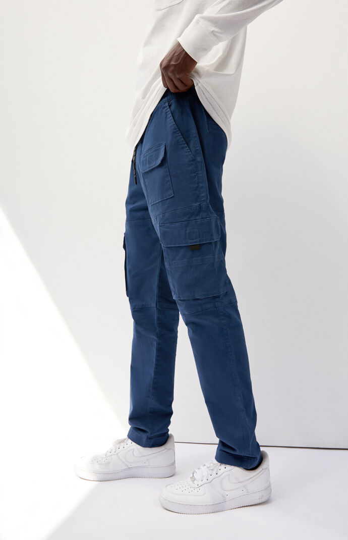 Utility Blue Slim Cargo Pants