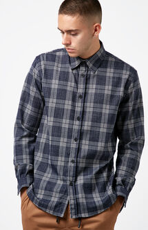 Joe Plaid Flannel Long Sleeve Button Up Shirt