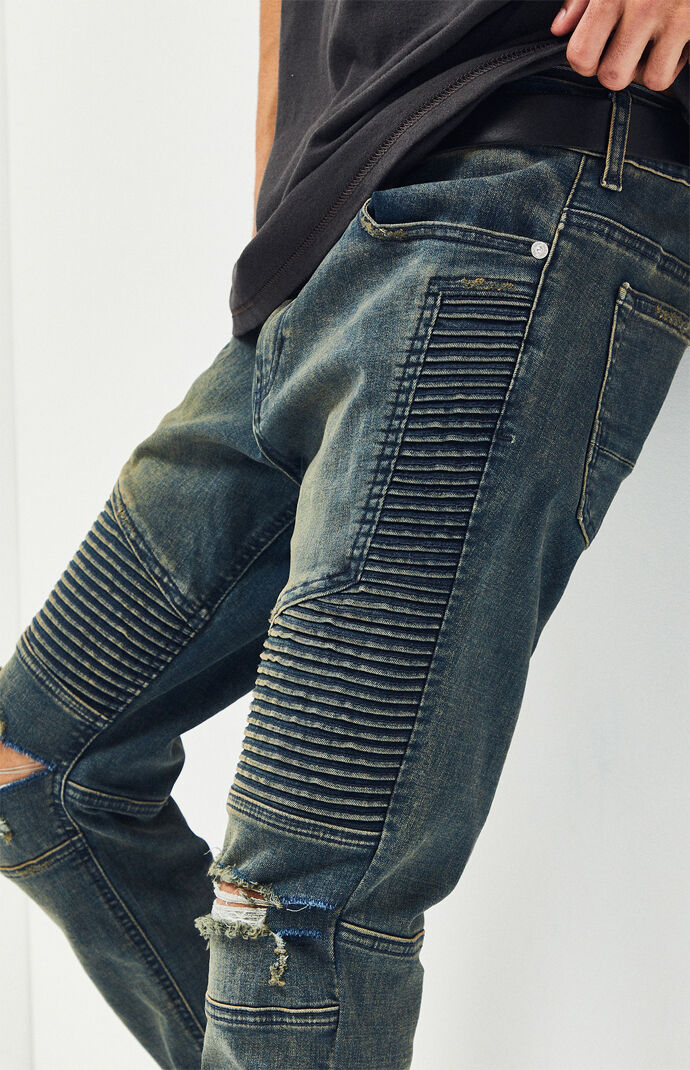 ccd97d2a556 Stacked Skinny Moto Medium Jeans | PacSun