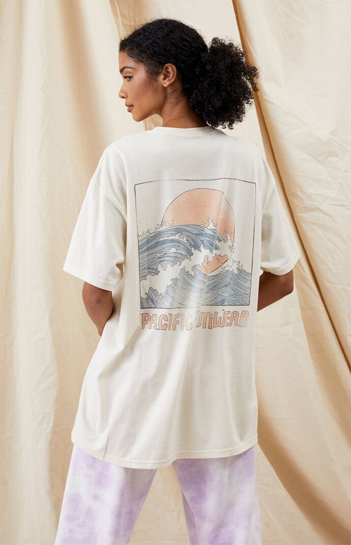 Pacific Sunwear Sunset Wave T-Shirt