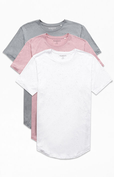 Three Pack Hardin Scallop T-Shirts
