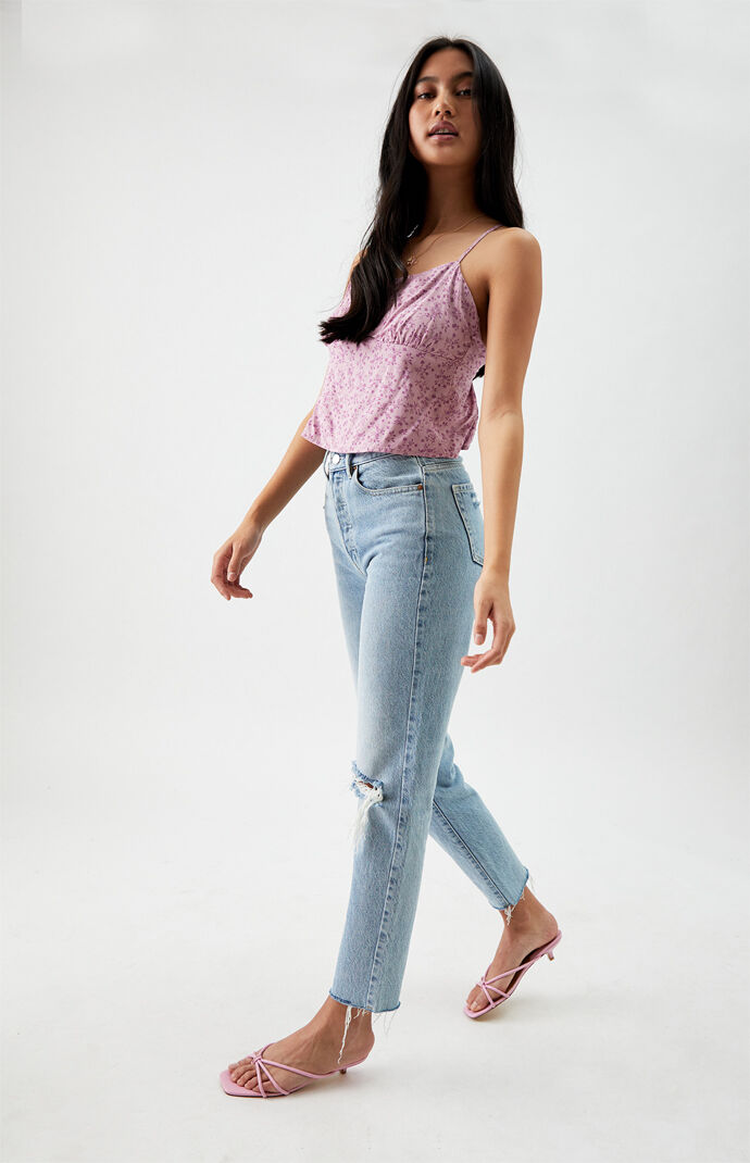 Lace-Up Back Cami Top