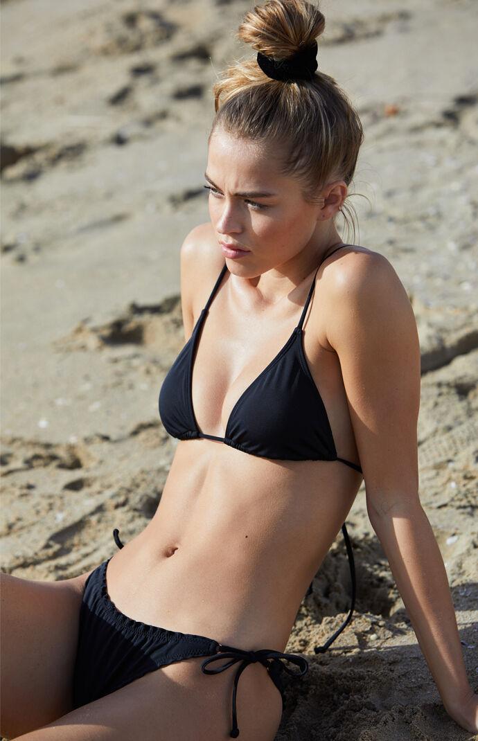 LA Hearts Basic Triangle Bikini Top - Black 7369259