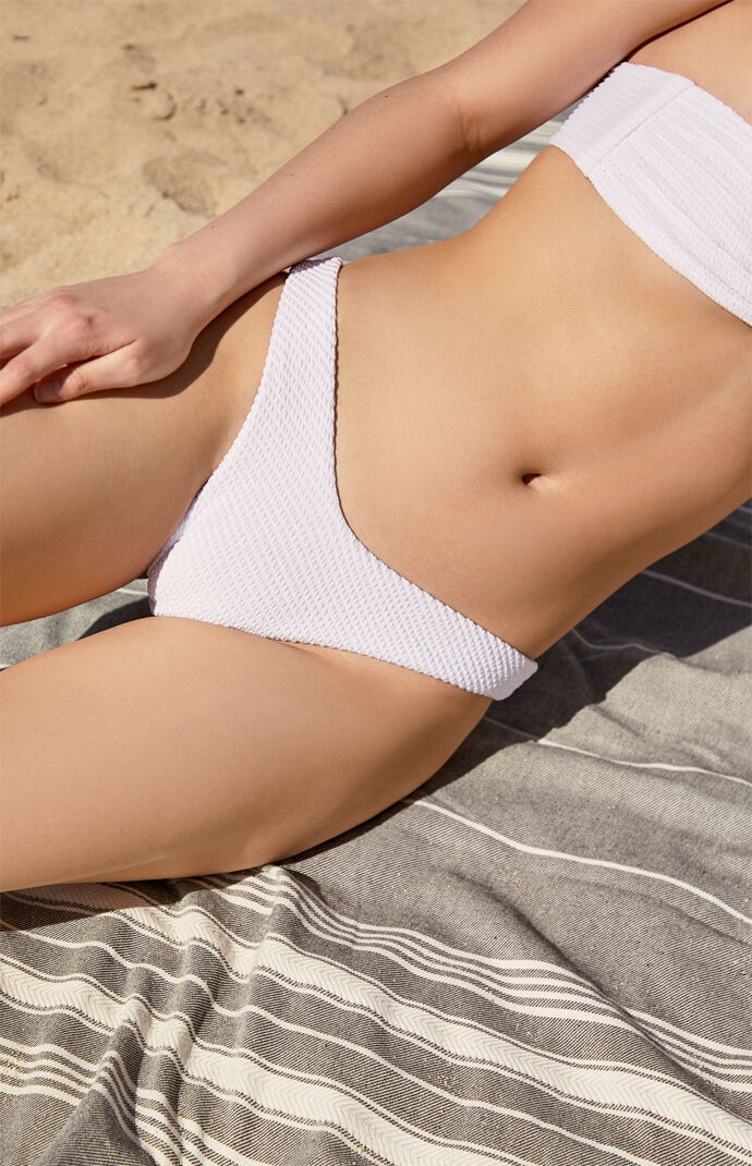 White Foxy High Cut Bikini Bottom