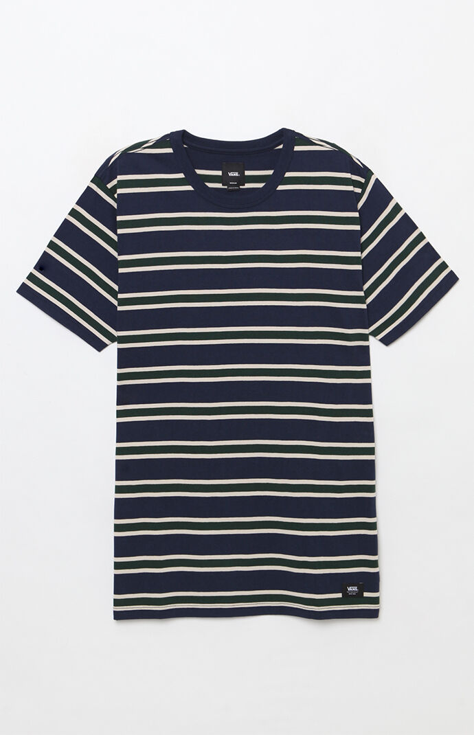 Lansing Stripe Navy T Shirt by Vans