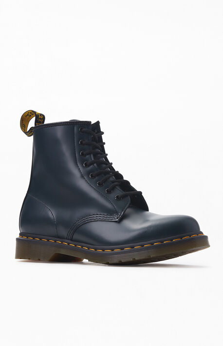 Navy 1460 Smooth Leather Boots