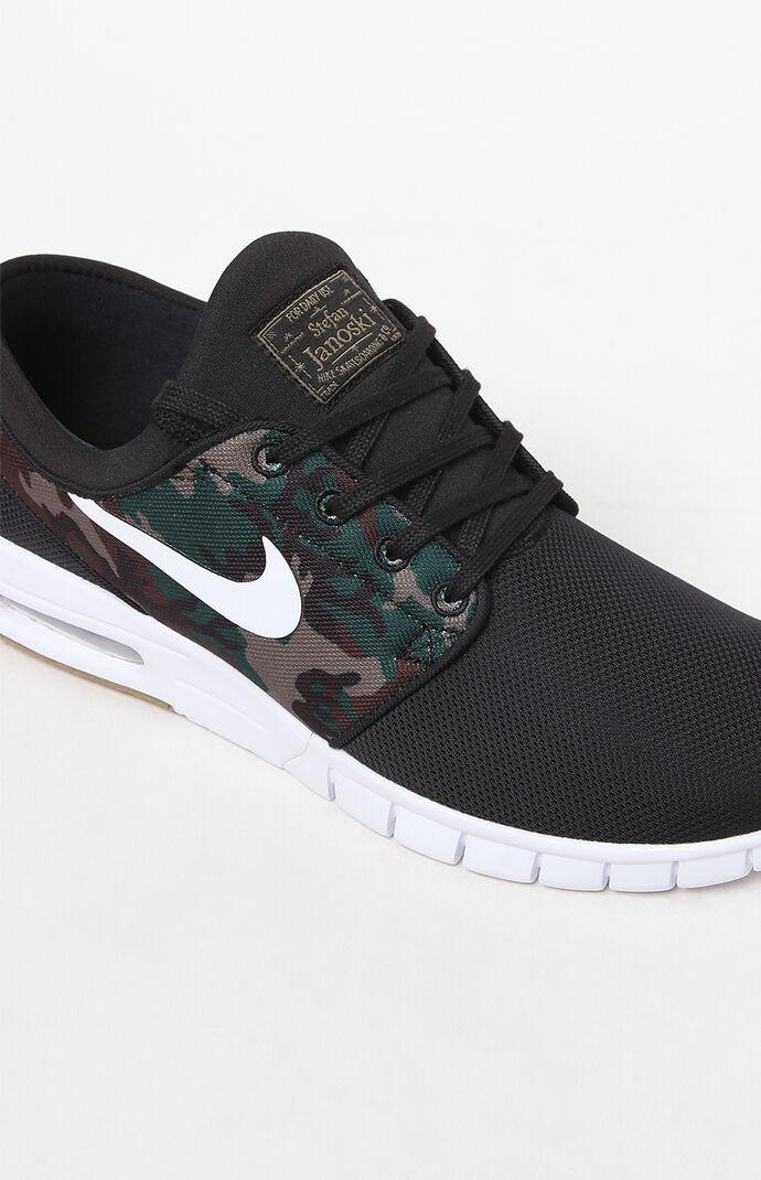 Nike SB Air Max Janoski Camo and Black Shoes at PacSun.com b2be85e68