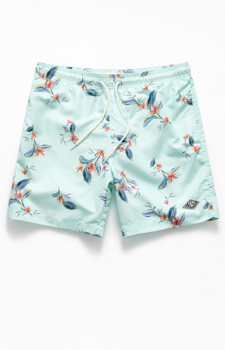 "Floral 17"" Swim Trunks"