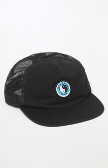 Yin-Yang Washed Snapback Trucker Hat