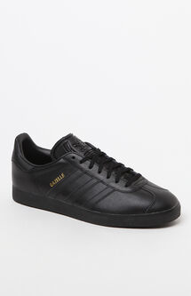 Gazelle Tonal Leather Black Shoes