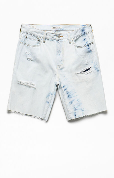 Tie-Dyed Denim Shorts