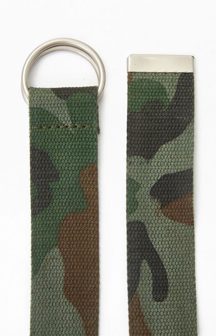 Camouflage Webbed D-Ring Belt