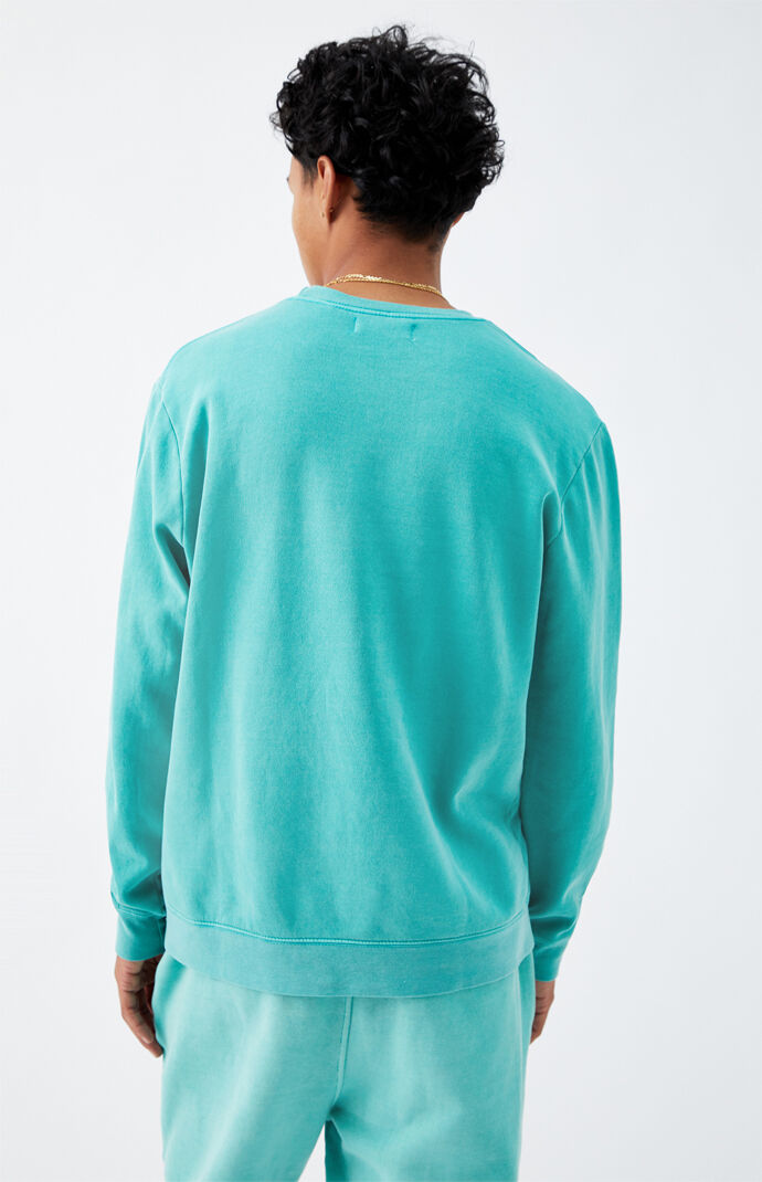 Green Vintage Wash Crew Neck Sweatshirt