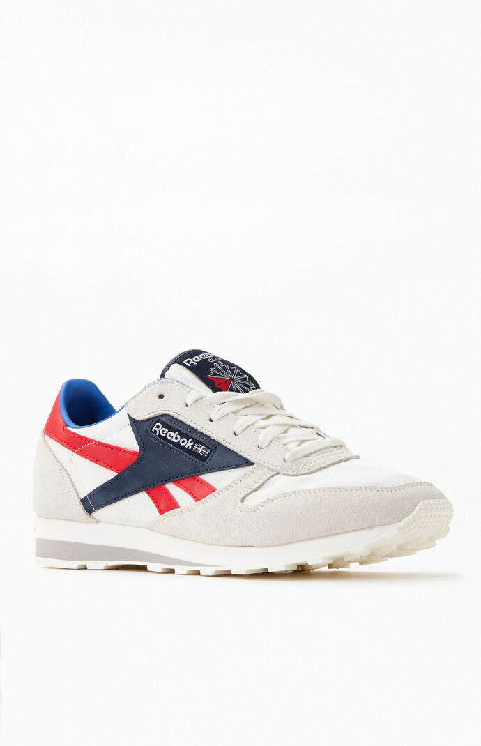 Off White & Red Classic Leather AZ Shoes