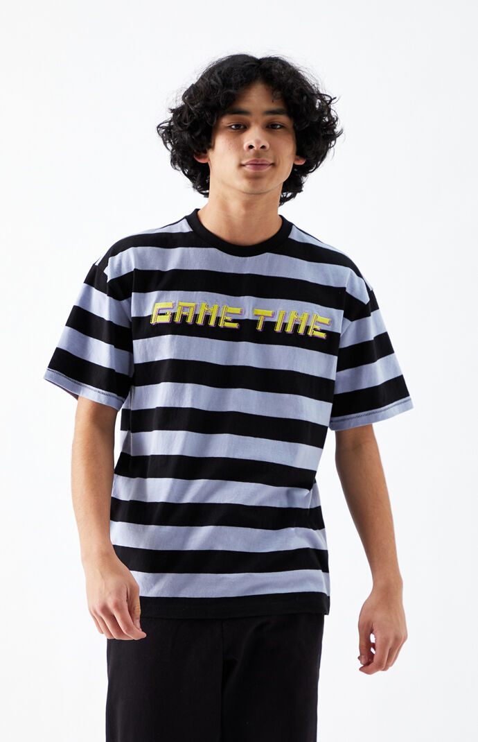 Game Time Regular Striped T-Shirt