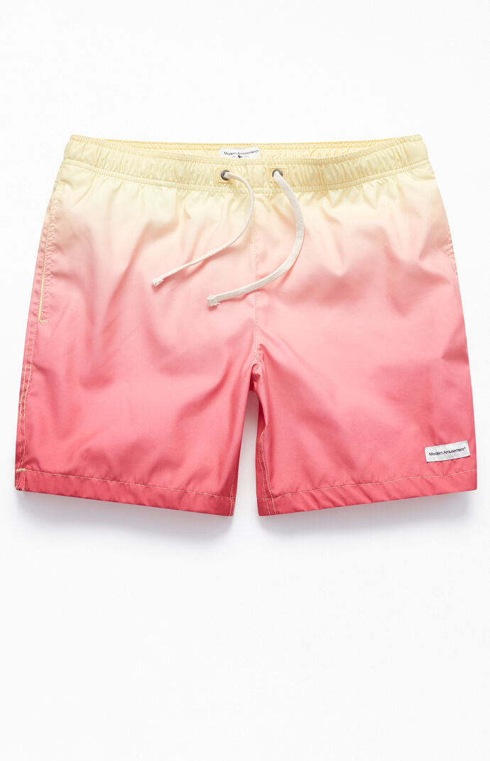 "Dip-Dyed 17"" Swim Trunks"