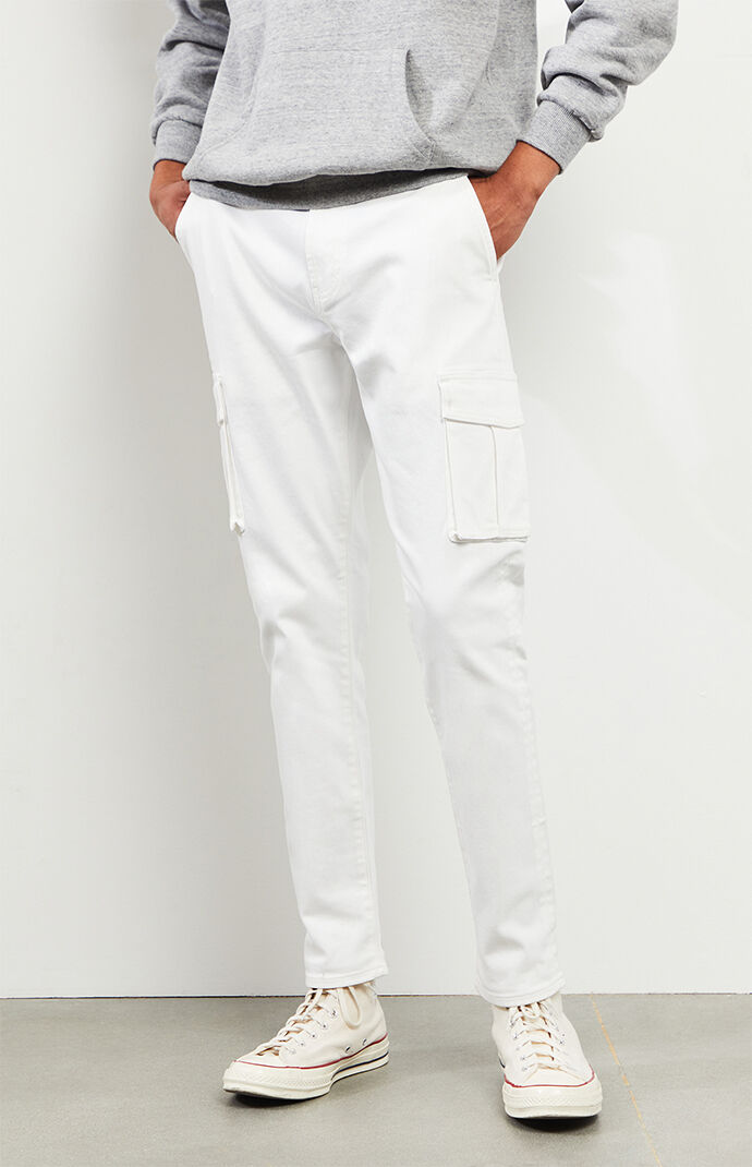 White Slim Taper Jeans