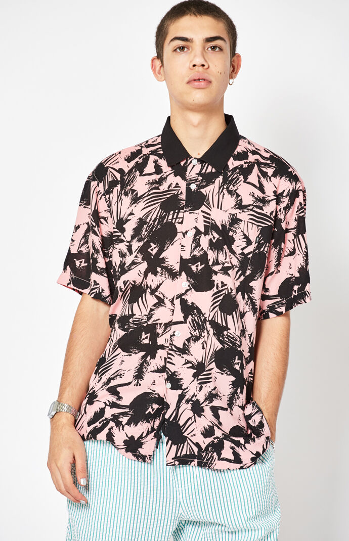 Obey Nate Short Sleeve Button Up Camp Shirt at PacSun.com c4f03d7de00