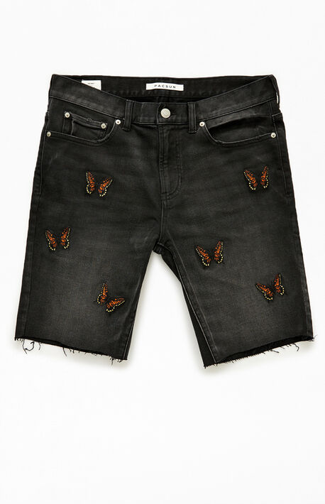 Butterfly Denim Shorts