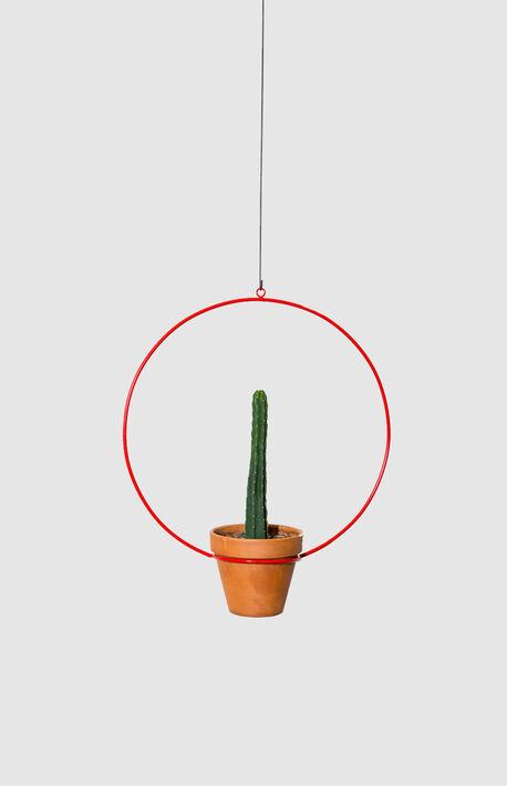Red Hanging Circle Planter
