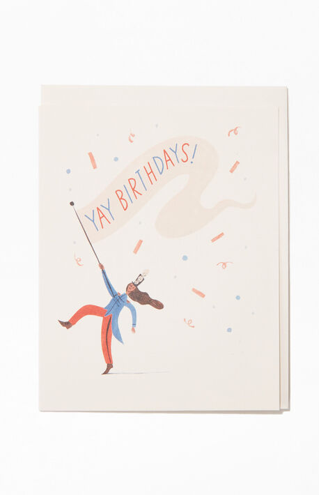 Yay Birthdays Greeting Card