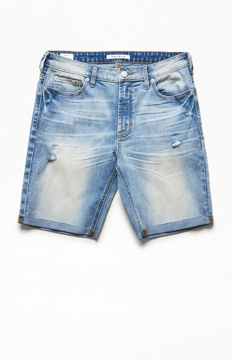 Light Cuffed Denim Shorts