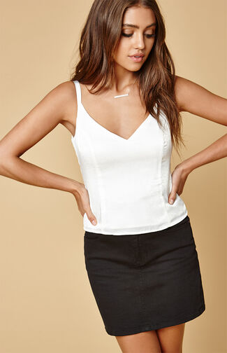 Solid Satin Cami Top