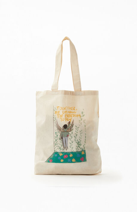 x Oto-Abasi Freedom To Fly Tote Bag