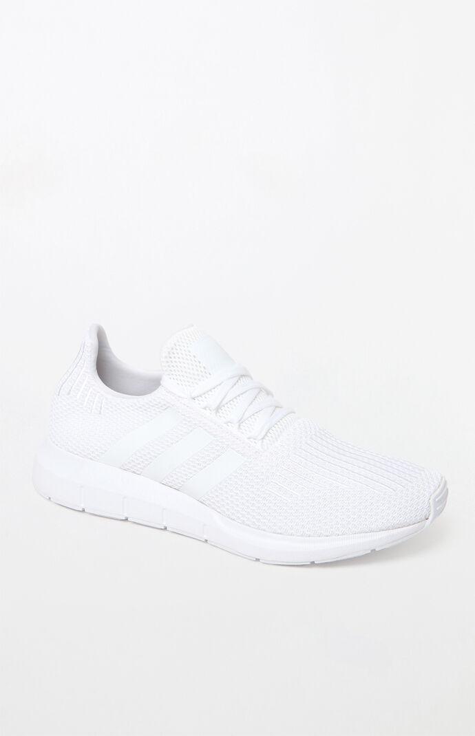 adidas Mens Swift Run White Shoes size 8