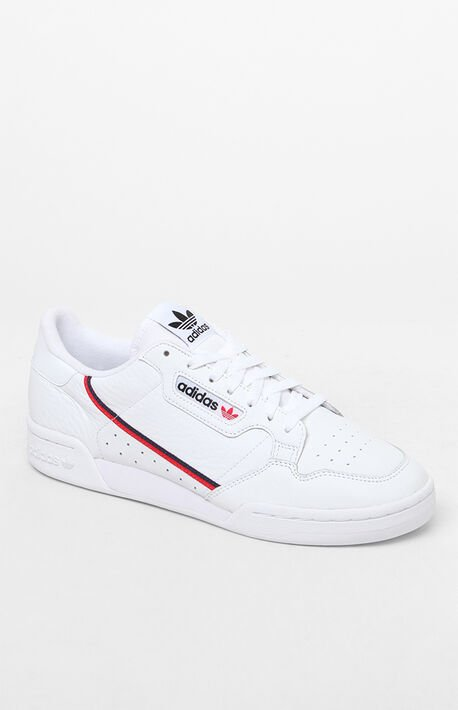 0d06a936d White  amp  Red Continental 80 Shoes · adidas ...