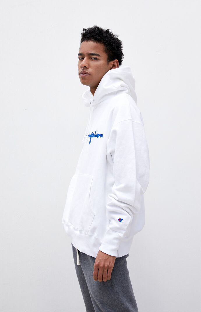 Embroidered Script Hoodie