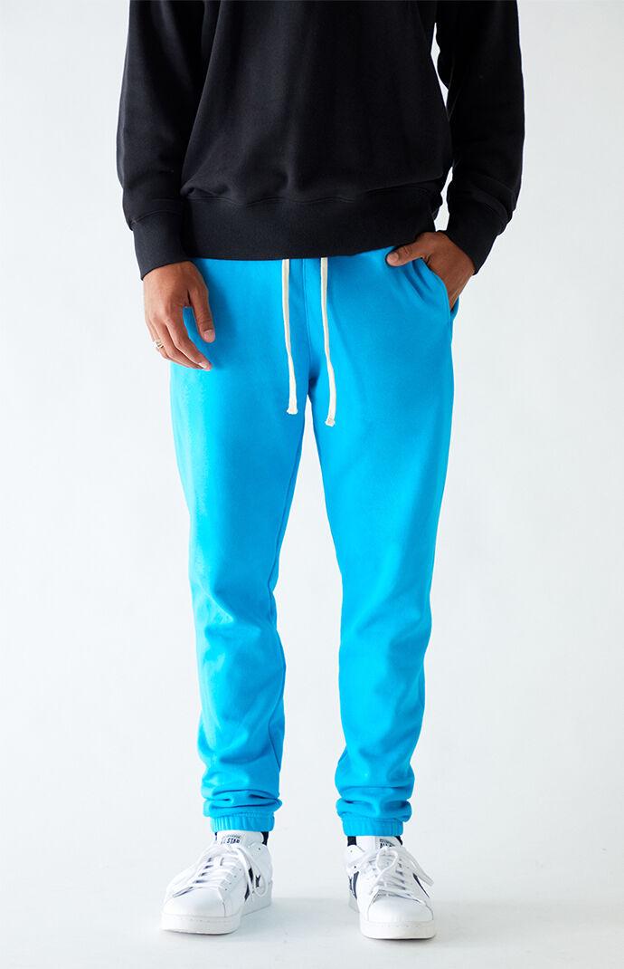 Blue Basic Fleece Sweatpants
