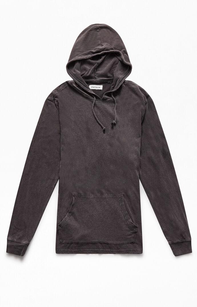 Vintage Wash Hooded Long Sleeve T-Shirt