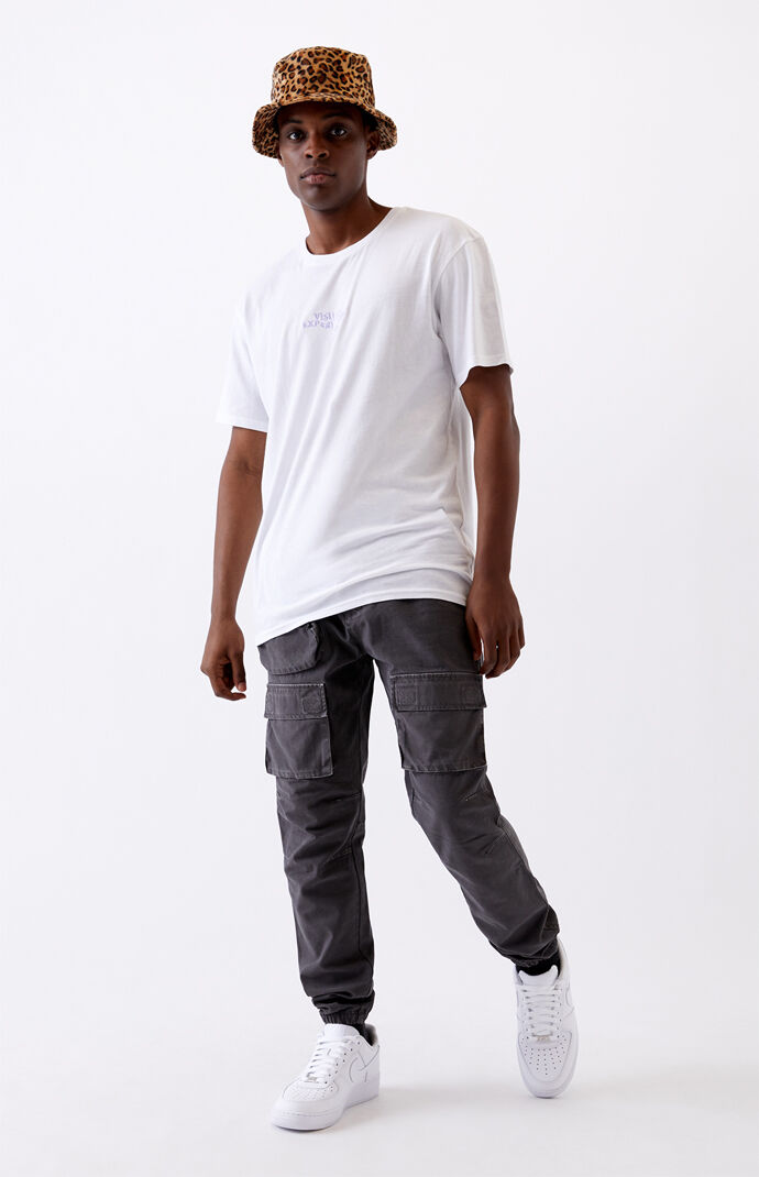 Gray Slim Cargo Jogger Pants