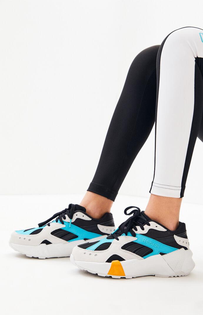 7b786d42104 Reebok x Gigi Hadid White and Black Aztrek Double Sneakers