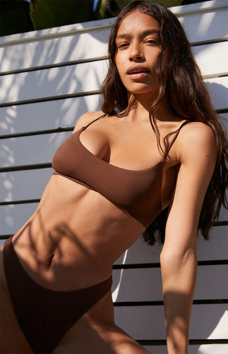 Brown Dixie Bralette Bikini Top