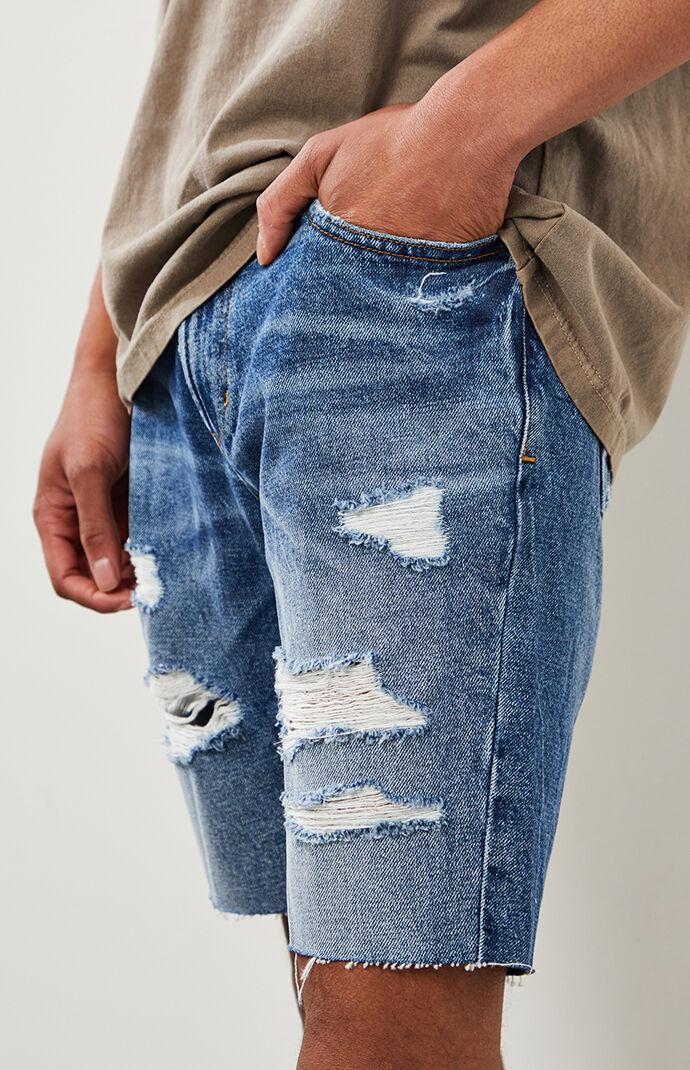 Medium Ripped Denim Shorts