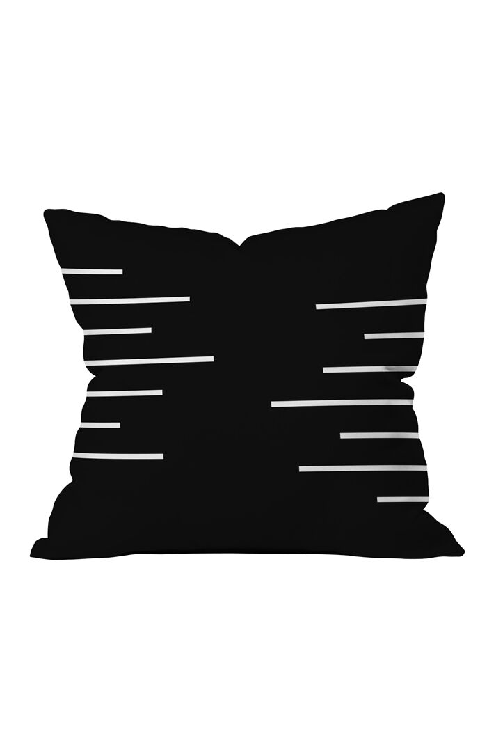 Geometric Stripes Throw Pillow