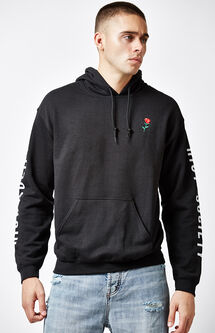 Rose Embroidery Pullover Hoodie