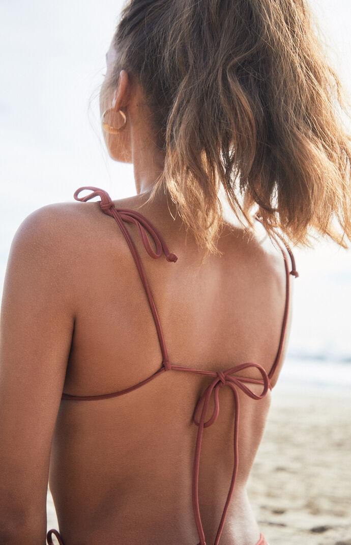 d4202d6f1e LA Hearts Brown Playa Tied Up Bralette Bikini Top | PacSun