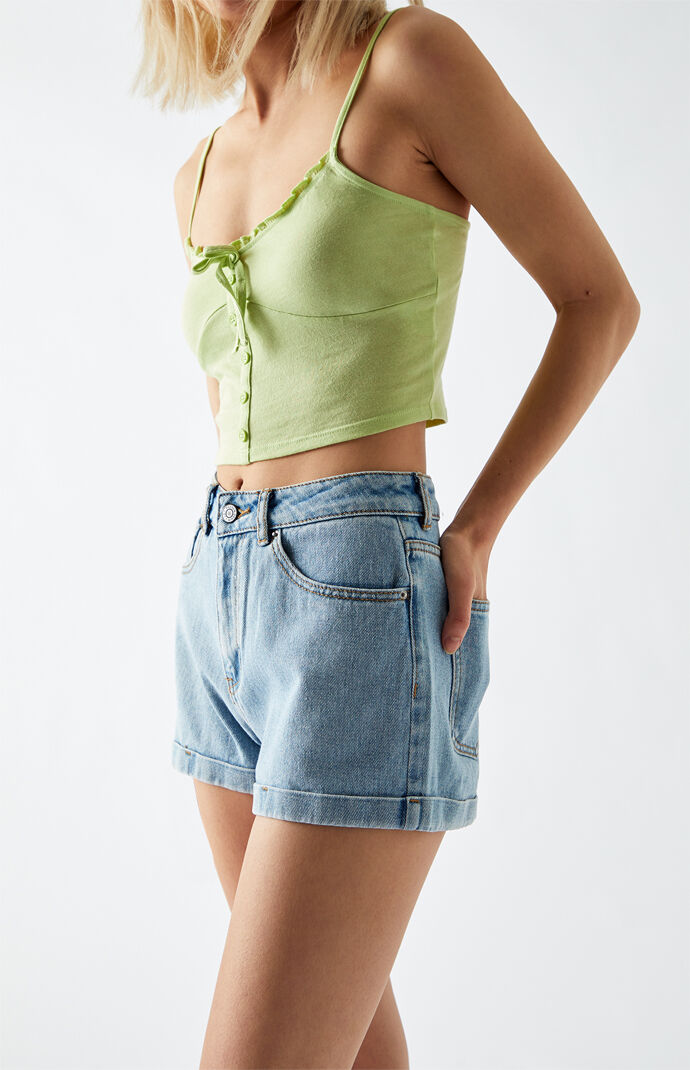 Amber Denim Mom Shorts