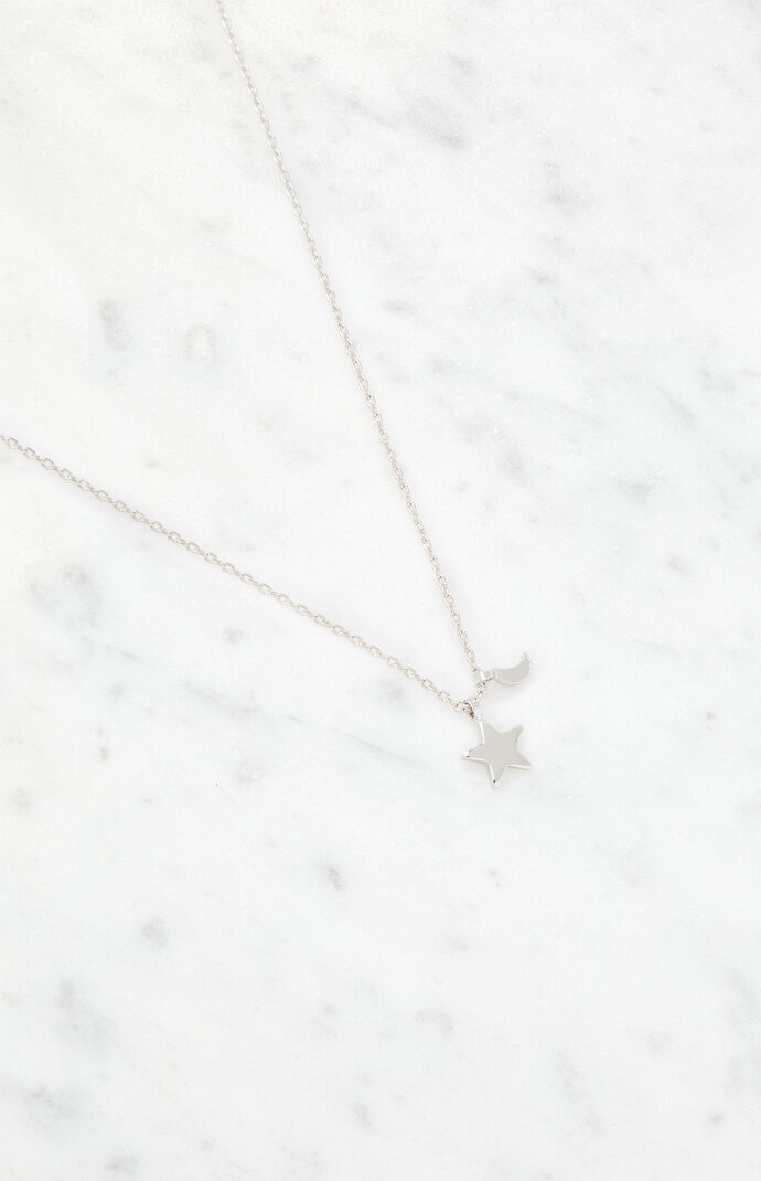 Simple Star & Moon Necklace